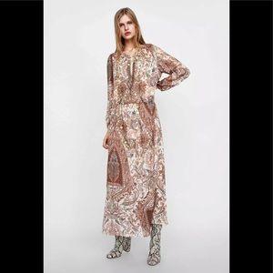 Zara Paisley Print Maxi Dress (NWT)